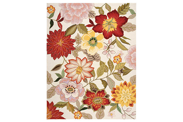 """Home Accents Fantasy 8' x 10'6"""" Rug, Ivory, large"""