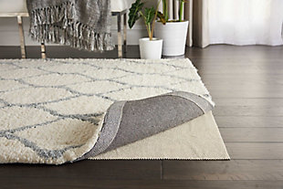 """Nourison Firm Grip Pad 4'8"""" X 7'6"""" Rug Pad, Ivory, rollover"""