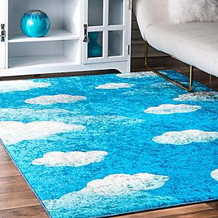 NuLoom Jojo Clouds 5' x 7' Area Rug, Blue, rollover