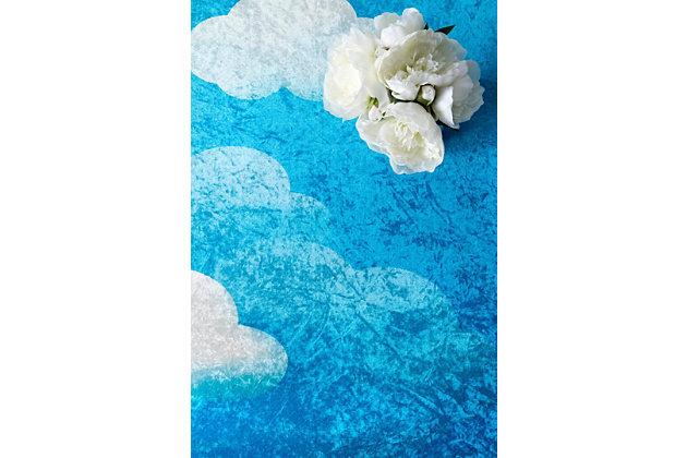 NuLoom Jojo Clouds 5' x 7' Area Rug, Blue, large