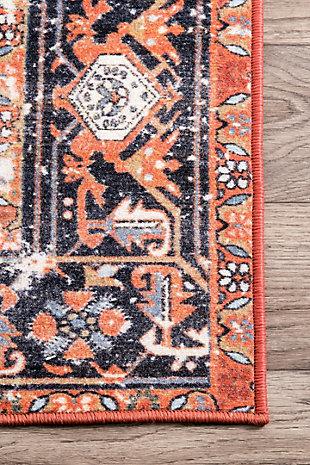 """NuLoom Vintage Sherita 5' 5"""" x 8' Area Rug, Rust, large"""