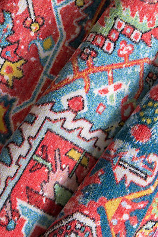 NuLoom Vintage Sherita 8' x 10' Area Rug, Red, large