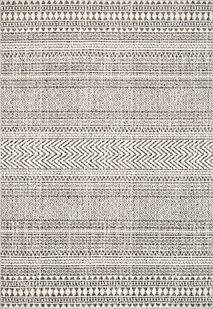 NuLoom Catherine Henna Tribal Bands 5' x 8' Area Rug, Gray, large