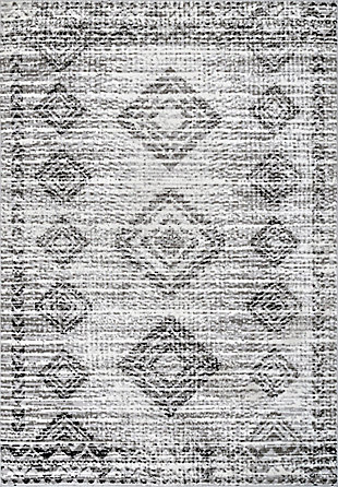 NuLoom Presley Faded Aztec 5' x 8' Area Rug, Gray, large