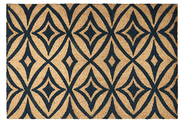 "Home Accents 1'6"" x 2'4"" Centro Doormat, Navy, large"