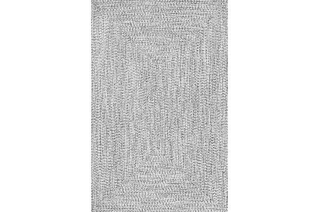 NuLoom Braided Lefebvre Indoor/Outdoor 5' x 8' Area Rug, Salt and Pepper, large