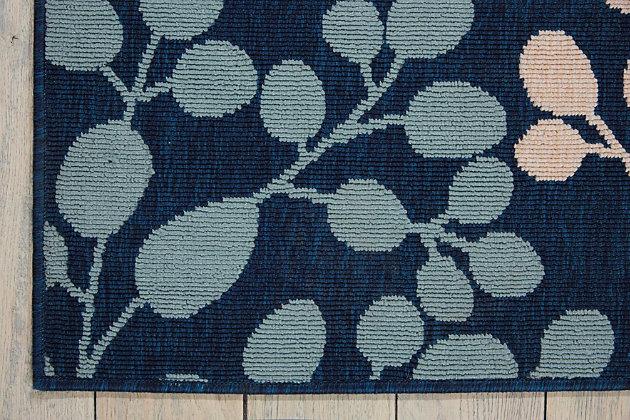 Nourison Caribbean Dark Blue Multicolor 3'x4' Area Rug, Navy, large
