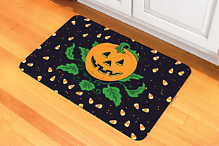 "Home Accents 1'6"" x 2'3"" Candy Corn Pumpkin Doormat, , rollover"