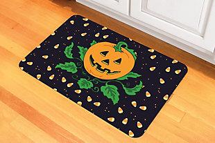 "Home Accents 1'6"" x 2'3"" Candy Corn Pumpkin Doormat, , rollover"