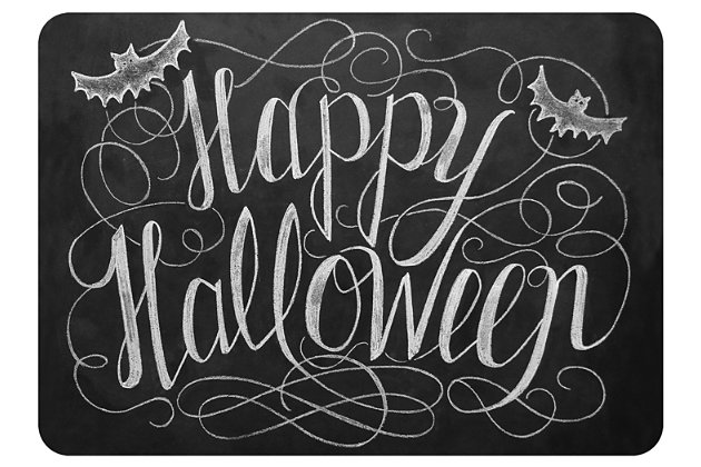 "Home Accents 1'10"" x 2'7"" Happy Halloween Doormat, , large"