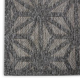 Nourison Cozumel 2' x 4' Area Rug, Dark Gray, large