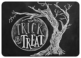 "Home Accents 1'10"" x 2'7"" Trick or Treat Moon Lily & Val Doormat, , large"