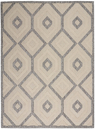 Nourison Cozumel 5' x 7' Area Rug, Cream, large