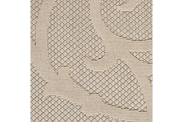 Nourison Cozumel 8' Runner Area Rug, Cream, large