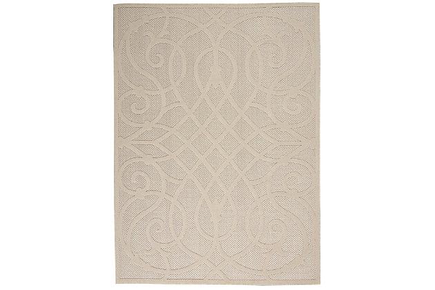 Nourison Cozumel 5' X 7' Area Rug, Cream, large