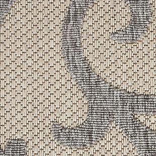 Nourison Cozumel 5' x 7' Area Rug, Cream Gray, large
