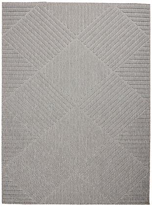 Nourison Cozumel 5' x 7' Area Rug, Light Gray, large