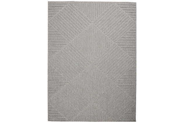Nourison Cozumel 5' X 7' Area Rug, Light Gray, large