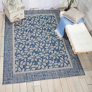 Nourison Countryside Blue 5'x7' Flat Weave Area Rug, Denim, rollover