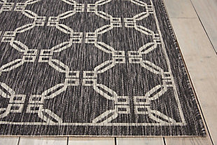 Nourison Countryside Black 5'x7' Flat Weave Area Rug, Charcoal, large