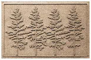 Home Accents 2' x 3' Fir Forest Indoor/Outdoor Doormat, Khaki, large