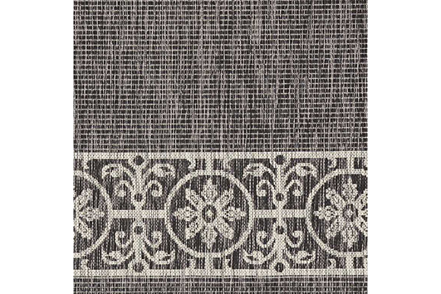 Nourison Countryside Black 4'x6' Flat Weave Area Rug, Charcoal, large