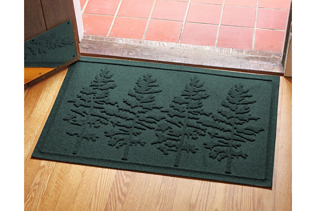 Home Accents 2' x 3' Fir Forest Indoor/Outdoor Doormat, Evergreen, large
