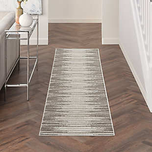 Nourison Key Largo 5' x 7' Light Gray Area Rug, Light Gray, rollover