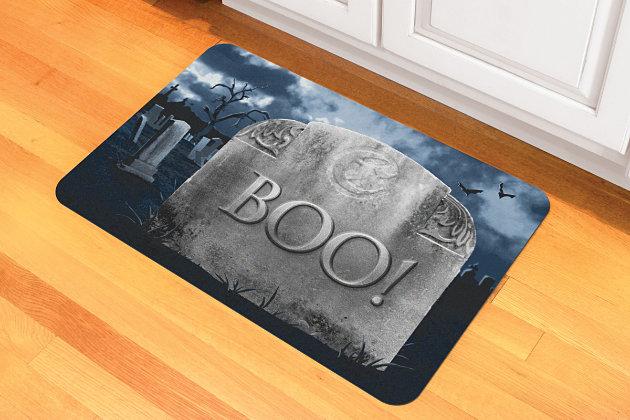 """Home Accents 1'6"""" x 2'3"""" Grave Misfortune Doormat, , large"""