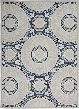 Nourison Key Largo 4' x 6' Blue Area Rug, Blue, large
