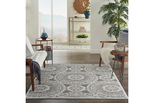 Nourison Key Largo 5' x 7' Taupe Area Rug, Taupe, large