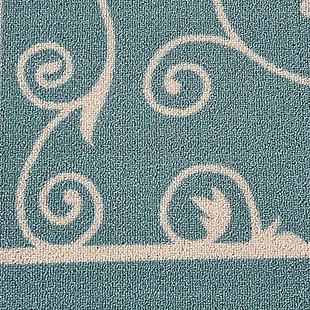 Nourison Home & Garden Blue 5' X 8' Area Rug, Light Blue, large