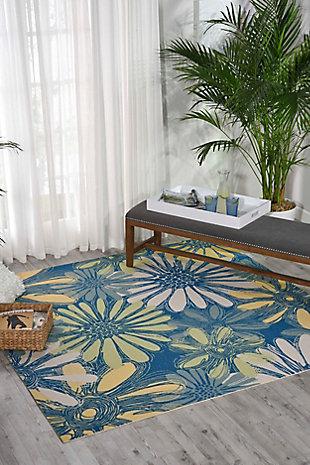 Nourison Home & Garden Blue 8' x 11' Rug, Blue, rollover