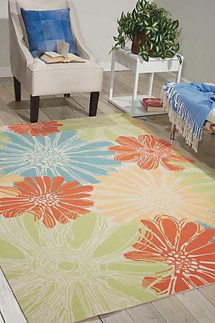 Nourison Home & Garden Multicolor 5' x 8' Area Rug, Ivory, rollover