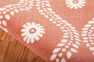 Nourison Home & Garden Red And Brown 5' X 8' Area Rug, Rust, large