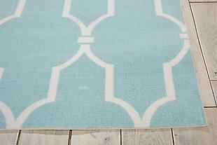 Nourison Home & Garden Blue 5' X 8' Area Rug, Aqua, large