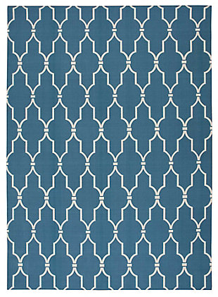 Nourison Home & Garden Dark Blue 5' x 8' Area Rug, Navy, large