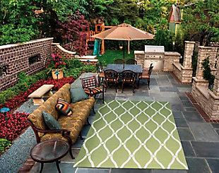 Nourison Home & Garden Green 5' x 8' Area Rug, Green, rollover
