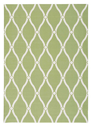 Nourison Home & Garden Green 5' x 8' Area Rug, Green, large