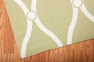 Nourison Home & Garden Green 5' X 8' Area Rug, Green, large