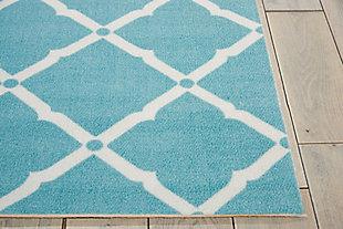 Nourison Home & Garden Blue 4' X 6' Area Rug, Aqua, large