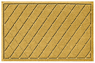 Home Accents 2' x 3' Argyle Indoor/Outdoor Doormat, Yellow, large