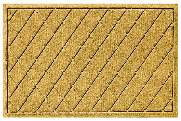 Home Accents 2' x 3' Argyle Indoor/Outdoor Doormat, Yellow, large