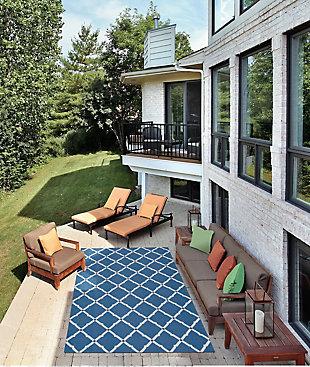 Nourison Home & Garden Dark Blue 5' x 8' Area Rug, Navy, rollover