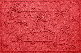 Home Accents 2' x 3' Reindeer Row Indoor/Outdoor Doormat, , large