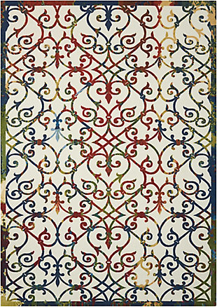 Nourison Home & Garden Multicolor 5' x 8' Area Rug, Multi, large