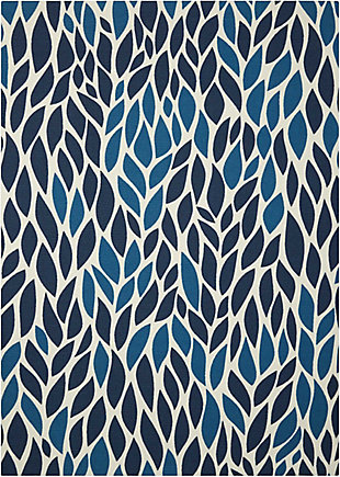 Nourison Home & Garden Blue 5' x 8' Area Rug, Blue, large