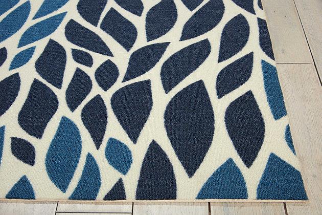 Nourison Home & Garden Blue 5' x 8' Area Rug, Blue, large
