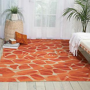 Nourison Coastal Orange 5' x 8' Area Rug, , rollover
