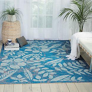 Nourison Coastal Blue 5' x 8' Area Rug, Blue, rollover